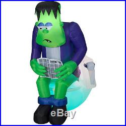 6 ft Halloween Inflatable Surprise Monster Toilet Scene with Sound and Sensor