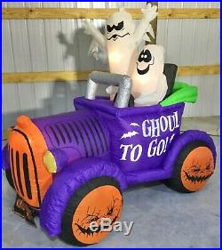 6ft Gemmy Airblown Inflatable Prototype Halloween Ghosts in Car #73555