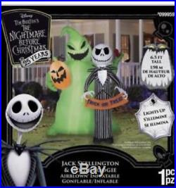 6ft Tall Gemmy Airblown Inflatable Nightmare Before Christmas Halloween Blow Up