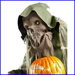 7.1' Halloween Animated Evil Pumpkin Harvester Prop Haunted House Decor PREORDER
