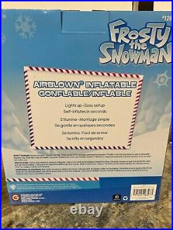 7.5 Ft FROSTY SNOWMAN Gemmy Airblown Inflatable Christmas Candy Cane North Pole