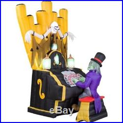7 FT GEMMY CREEPY ZOMBIE ORGAN PLAYER Airblown Inflatable WITH LIGHTS & SOUND