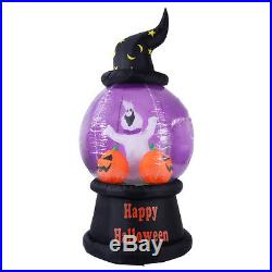 7 FT Halloween Inflatable Snow Globe Lighted Yard/Indoor Decoration Air Blown