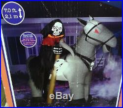 7 FT Tall Airblown Inflatable Halloween Grim Reaper, Brand New