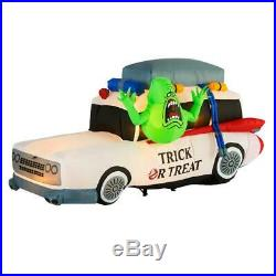 7 Ft GHOSTBUSTERS ECTO-1 CAR Airblown Lighted Yard Inflatable WITH SLIMER