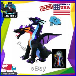 7 Ft Halloween Inflatable Dragon Decoration for Home Yard Lawn Indoor Outdoor US