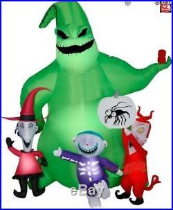 7 Ft OOGIE BOOGIE LOCK SHOCK Halloween AIRBLOWN Inflatable NIGHTMARE BEFORE XMAS