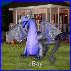 8.5-ft x 11.52-ft Animatronic Lighted Dragon Halloween Inflatable Halloween