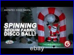 8 Ft Christmas Animated Disco Santa Claus Airblown Inflatable Yard Decor Lighted