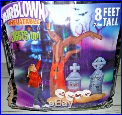 8' Gemmy Airblown Inflatable Halloween Graveyard Yard Decor Light
