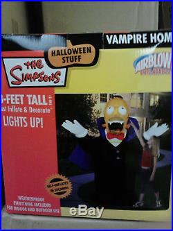 8' Tall Airblown Inflatable Homer Vampire Halloween decor, very rare