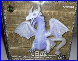 8 ft Animated wings Winter White Dragon FIRE & ICE Halloween Inflatable NEW