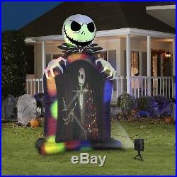 9.5' Jack Skellington Screen LIving Projection Halloween Inflatable Gemmy