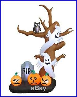 9 FOOT Halloween Inflatable Tree Ghosts Pumpkins LED Light Yard Party Decoration