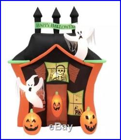 9 FT HAUNTED HOUSE WITH GHOSTS Halloween Lighted Airblown Yard Inflatable