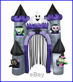 9 Ft HAUNTED CASTLE ARCHWAY Airblown Lighted Yard Inflatable