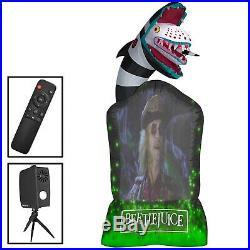9ft Beetlejuice Sandworm Tombstone Living Projection Inflatable Halloween Gemmy