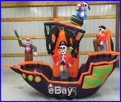 9ft Gemmy Airblown Inflatable Prototype Halloween Animated Pirate Ship #73888