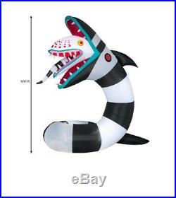 ANIMATED BEETLEJUICE SAND WORM Halloween Lighted Yard Inflatable