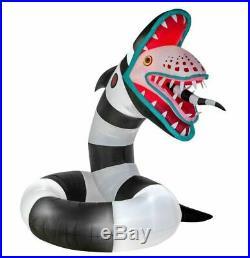 ANIMATED BEETLEJUICE SAND WORM Halloween Lighted Yard Inflatable 9.5 FT