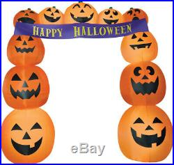 Air blown Halloween Inflatable Walkway Banner Yard Display Archway Tunnel Decor