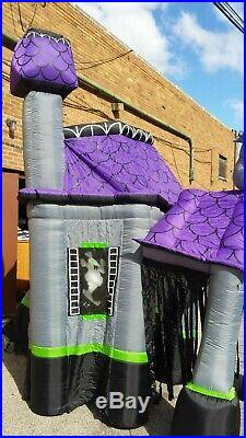 Airblown Inflatable Blowup Walkthrough Haunted House 9 Ft Tall Halloween Gemmy