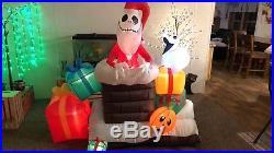Airblown Inflatable Nightmare Before Christmas Oogie Boogie Jack Sally Zero