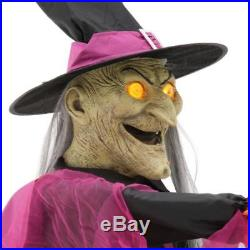 Animated 72 inch Wicked Cauldron Witches Halloween Yard Decor