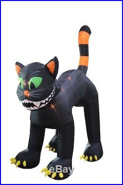 Animated Halloween Air Blown Jumbo Inflatable Yard Decoration Black Cat Decor