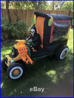 Animated Inflatable Hot Rod Hearse Gemmy Video below Rare