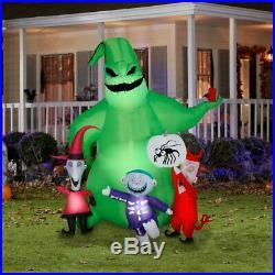 Animated JACK SKELLINGTON & ZERO & OOGIE BOOGIE & CREATURES Airblown Inflatables