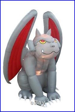 BZB Goods 8 Foot Huge Halloween Inflatable Gargoyle Monster Lights Decor Outdoor