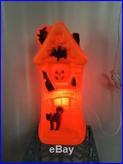 Bayshore Haunted House Orange blowmold HALLOWEEN 17