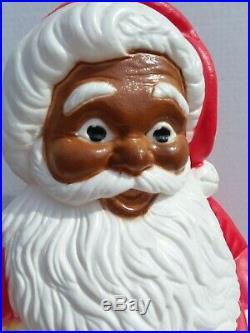 Black Santa Blow Mold Claus Christmas Vintage Grand Venture African American