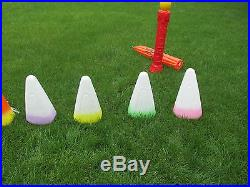 Blow Mold Halloween Candy Corn Candle Lighted Vintage Yard Table Decor Estate GR