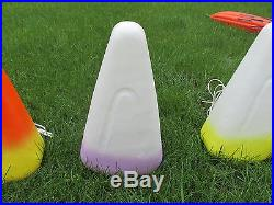 Blow Mold Halloween Candy Corn Candle Lighted Vintage Yard Table Decor Estate PU
