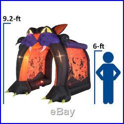 CAT TUNNEL Archway Swirling Kaleidoscope Light Effect Halloween Inflatable NIB