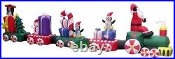 CHRISTMAS HUGE 20 FT TRAIN SCENE CANDY PENGUIN Airblown Inflatable YARD DECOR