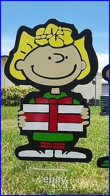 Charlie Brown Peanuts Gang SUPER COMBO NINE Christmas Yard Lawn Art Decorations