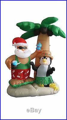 Christmas Inflatable Air Blown Blowup Decoration Santa Claus Penguin Palm Tree