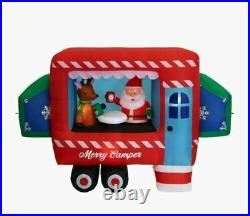 Christmas Santa Camper Rv Camping North Pole Inflatable Airblown Gemmy