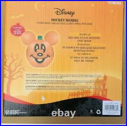 Disney 9.5 FT MICKEY MOUSE PUMPKIN JACK O LANTERN Airblown Inflatable NEW