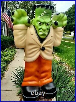 Empire Blow Mold Large Frankenstein Monster Halloween Lighted Yard Decoration