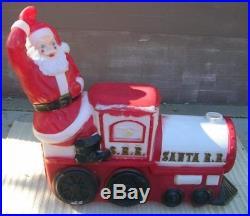 Empire Blowmold Blow Mold Santa Christmas Train 3 Piece 60mi S Of Chicago