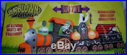GEMMY 17' Animated Halloween Train Coffin Vampire Tombstone Inflatable