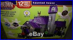 GEMMY AIRBLOWN INFLATABLE 12.5 ft HAUNTED HOUSE. Super Solid used condition