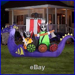 GEMMY Animated Viking Ship Halloween Airblown Inflatable Lighted Yard Decor