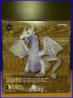 GEMMY HALLOWEEN Projection ANIMATED DRAGON AirBlown Inflatable 8.3 FT NEW DESIGN