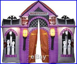 GEMMY Halloween HUGE AIRBLOWN MORTUARY HAUNTED HOUSE. 9 FT tall, 10FT wide. NEW