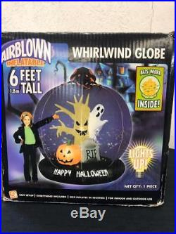 GEMMY Halloween Whirlwind Ghost Rip Spider Lighted Airblown Inflatable 6 Ft